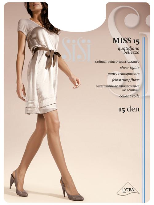 attraente e resistente acquistare bene Collant Sisi Velato Elasticizzato con Cuciture Comfort Miss 15 DEN 3 Paia