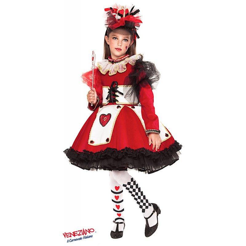Vestito di Carnevale Veneziano Regina di Cuori Prestige